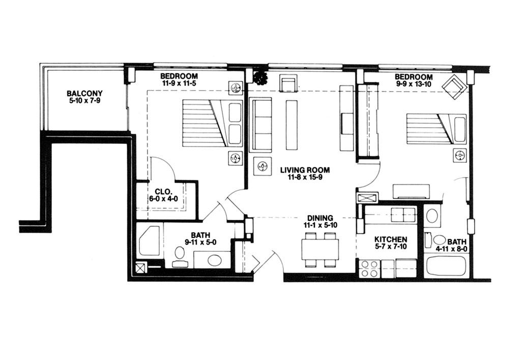 luxury retirement home floors plans treyton oak towers louisville