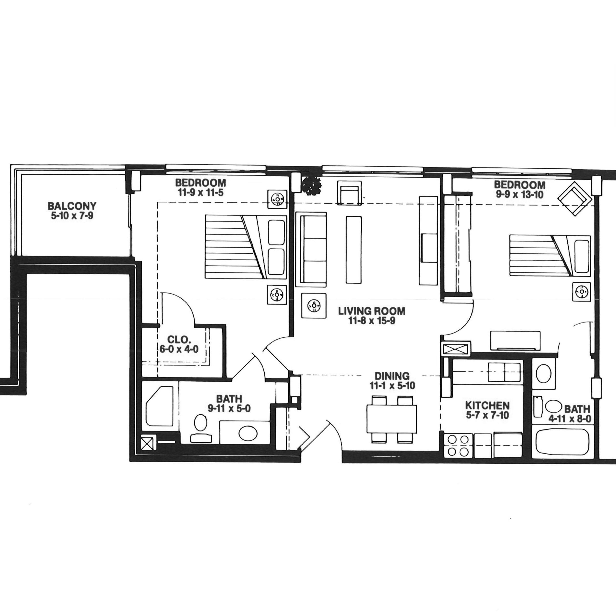The Skyline floor plan blueprint