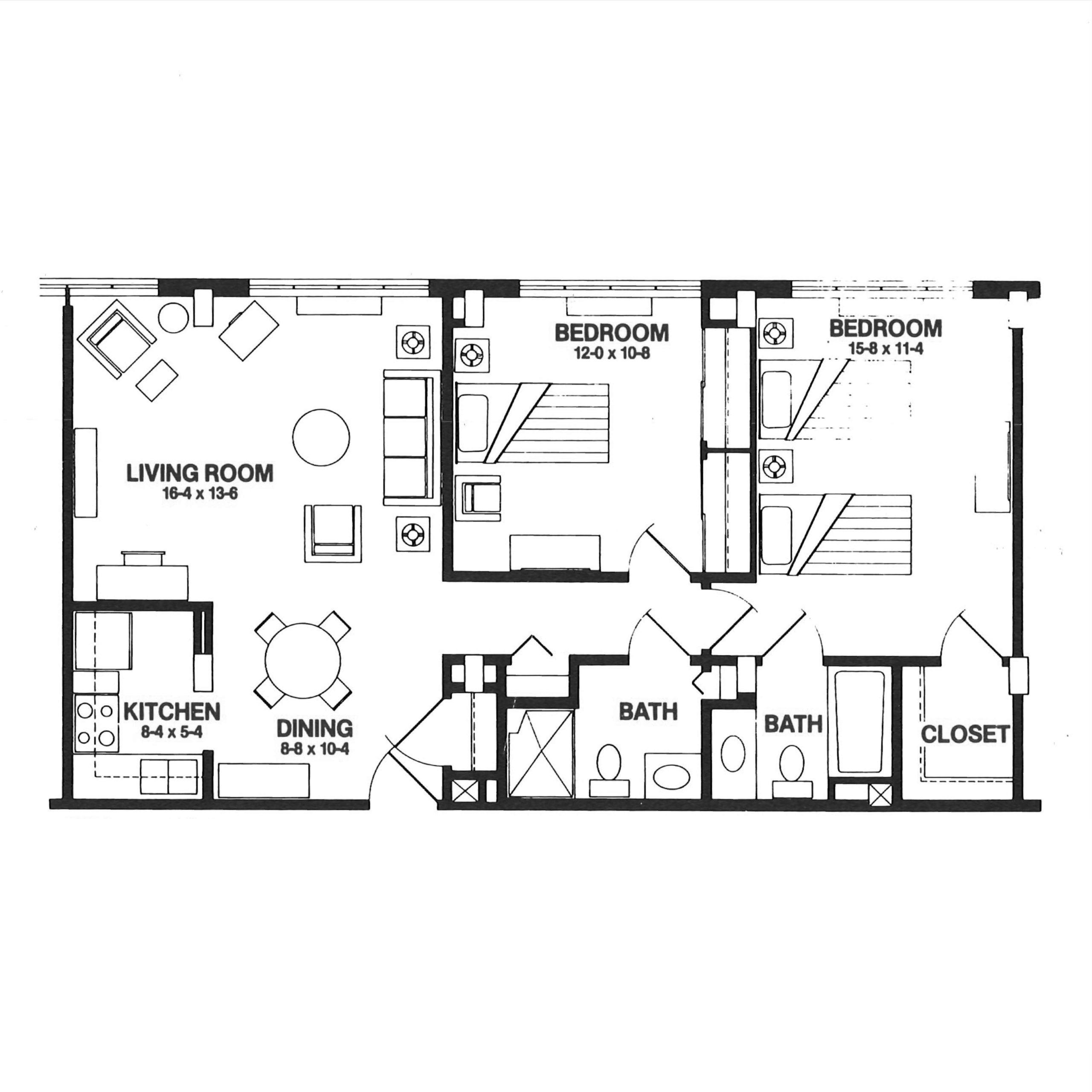The Garvin floor plan blueprint